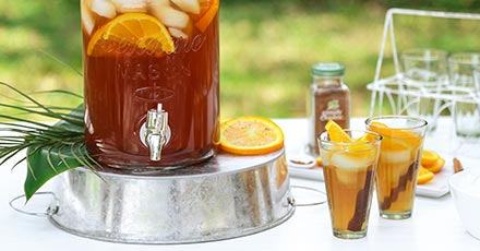 Simply Organic Five Spice Iced Tea Cocktail Recipe