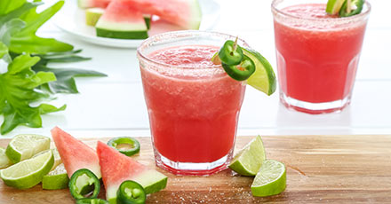 Simply Organic Watermelon Margarita with Chipotle Salt Rim Recipe