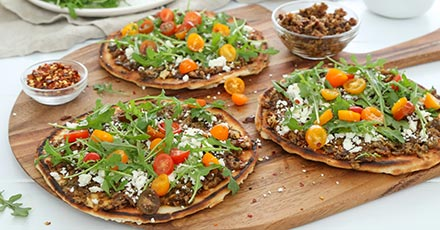Simply Organic Greek Grilled Pitas with Olive Tapenade Recipe