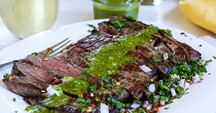 Simply Organic Easy Grilled Flank Steak with Chimichurri Recipe