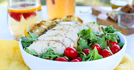 Simply Organic Easy Lemon Herb Grilled Chicken Salad Recipe