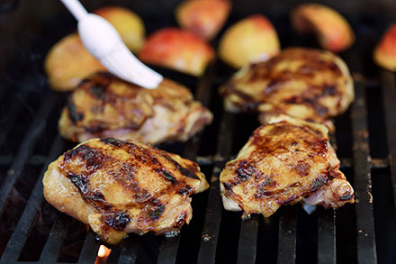 Easy Maple Bourbon Glazed Grilled Chicken Recipe | Simply ...