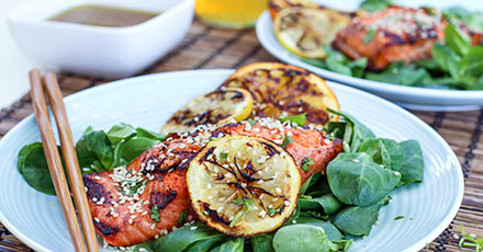 Simply Organic Easy Miso Glazed Grilled Salmon Recipe