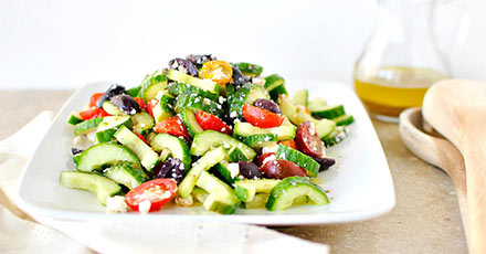 Simply Organic Easy Grilled Cucumber Tomato Feta Salad Recipe