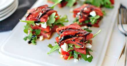 Simply Organic Easy Grilled Watermelon Caprese Salad Recipe