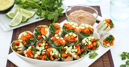 Simply Organic Summer Rolls with Ginger Peanut Sauce Recipe